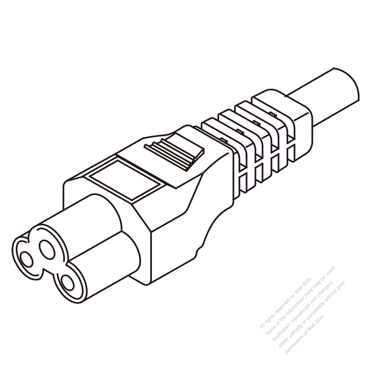 Uk Iec 320 C5 Connectors 3 Pin Straight 2 5a 250v