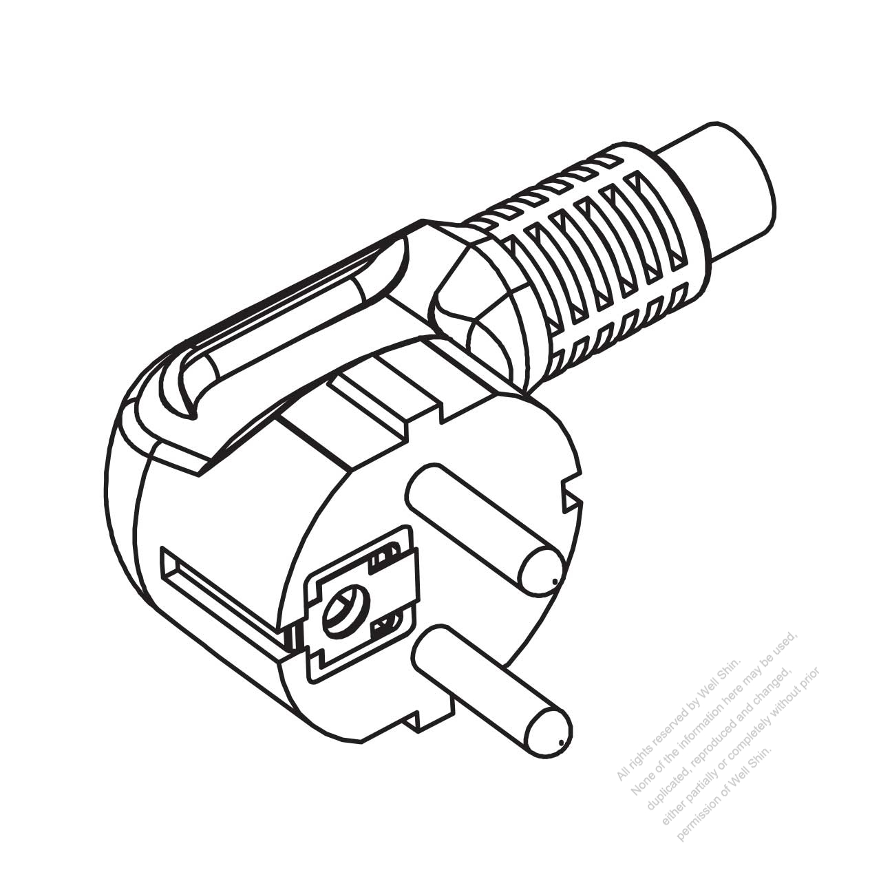 Germany 3 Pin Elbow Ac Plug 10 16a 250v