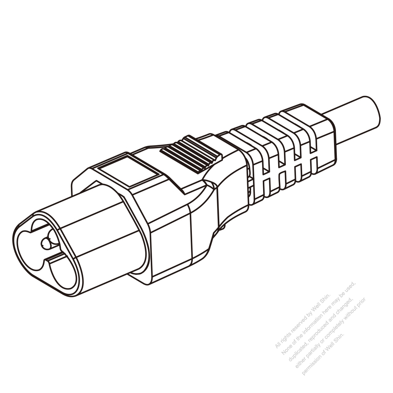 Iec 320 Sheet A C6 Plug Connectors 3 Pin Straight 2 5a