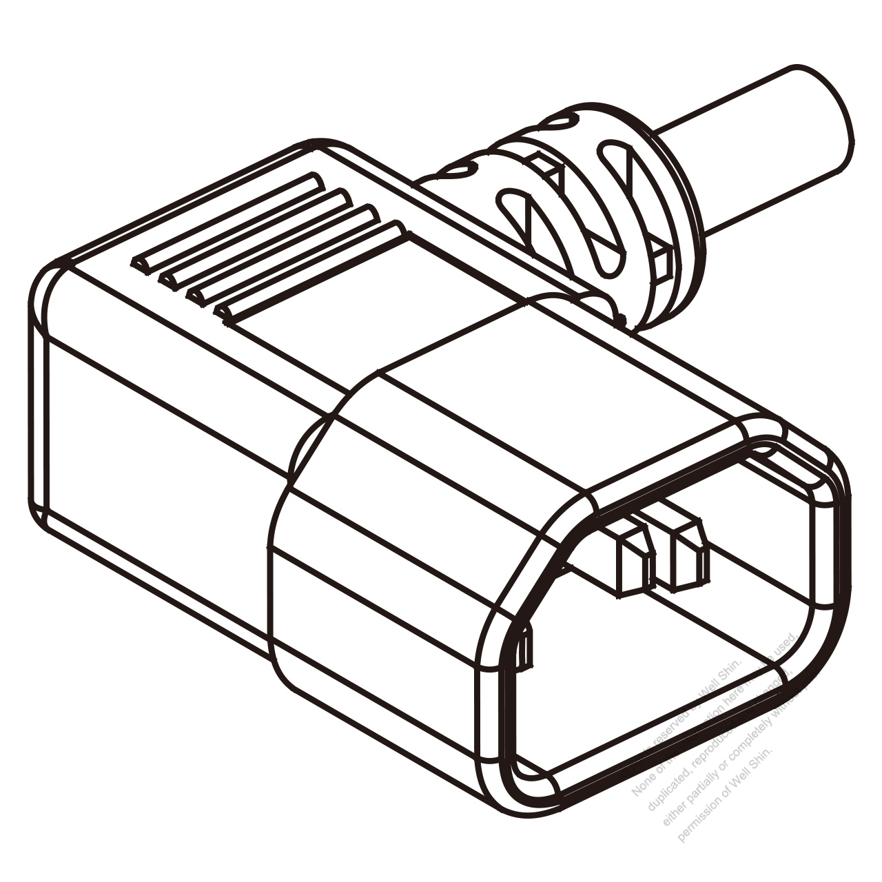 Iec 320 Sheet E C14 Plug Connectors 3 Pin Angle 10a 13a 15a 125 250v