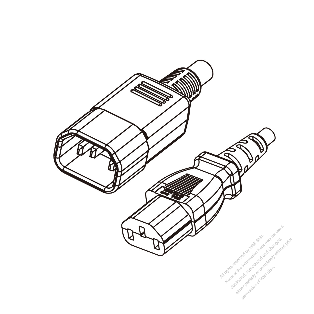 Europe 3 Pin Iec 320 Sheet E Plug To Iec 320 C13 Power