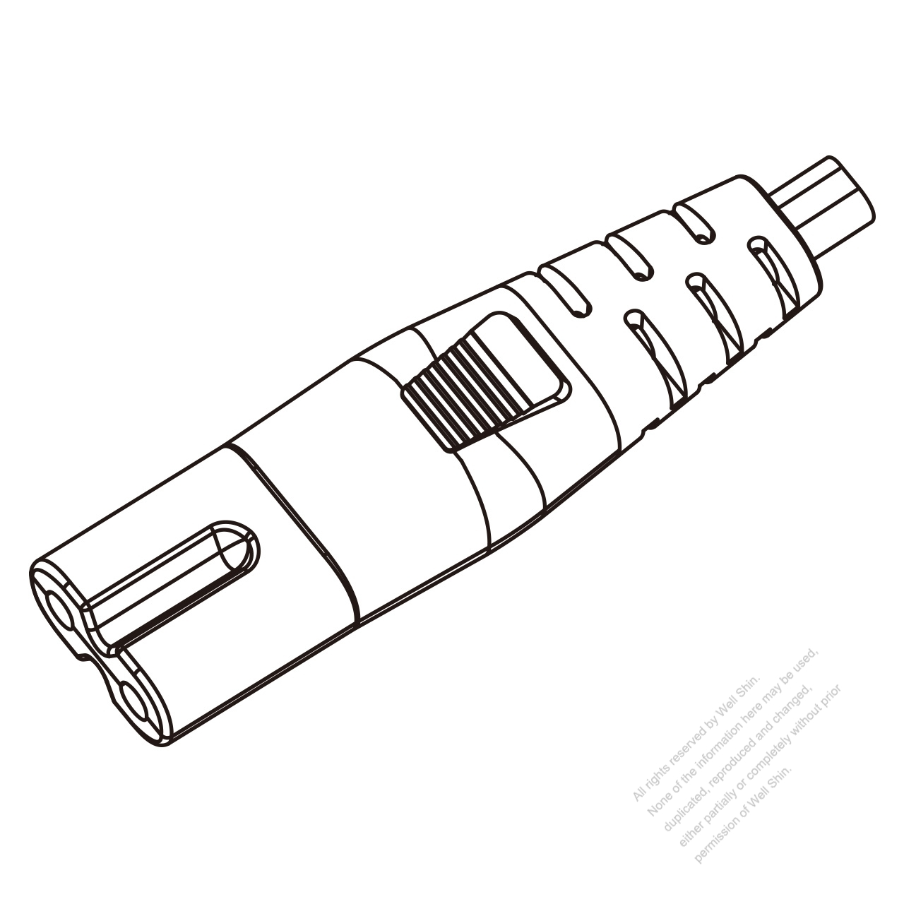 Iec 320 C7 Connectors 2 Pin Straight 7a 10a 125 2 5a 7a