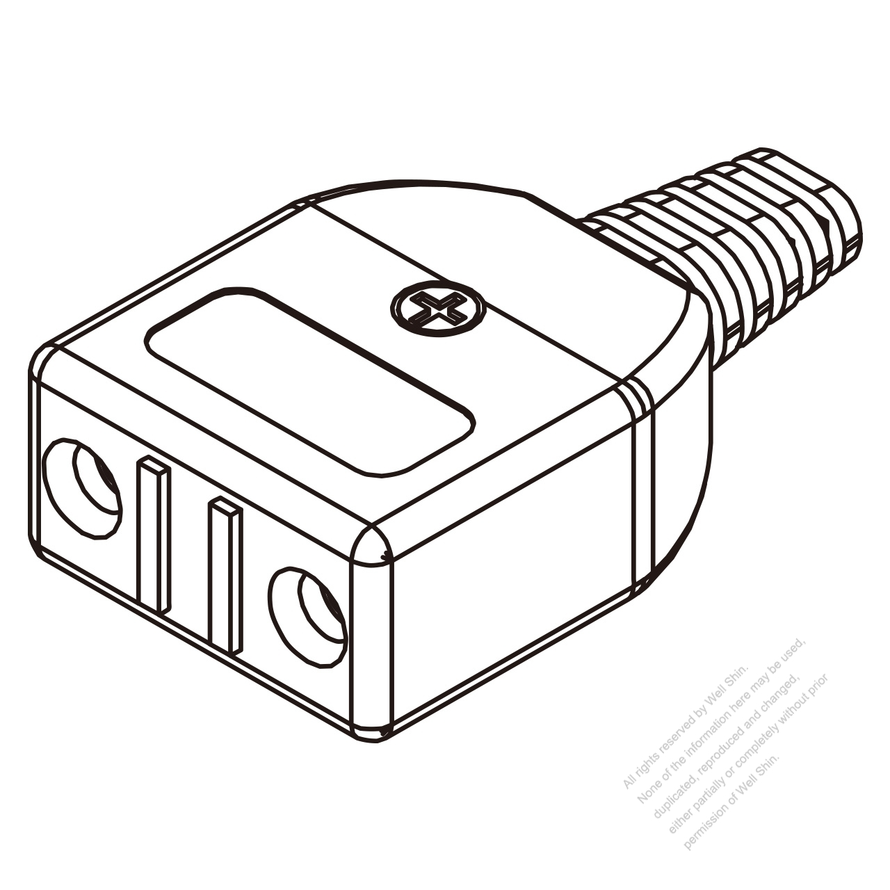 Taiwan Ac Connector 2 Pin Electric Cooker Connector 12a 125v