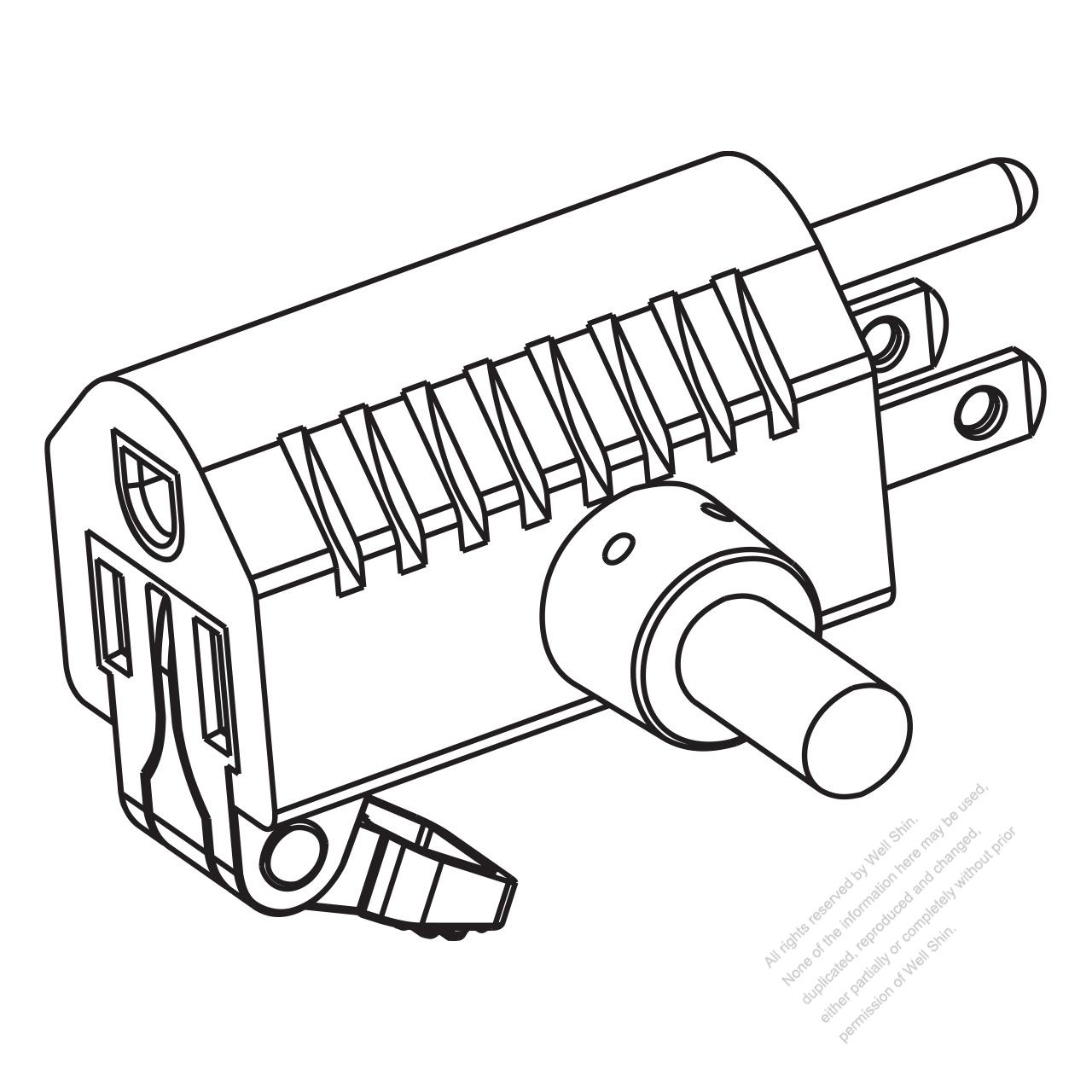 Usa Canada Nema 5 15p 15r T Shape Ac Plug 2 P 3 Wire