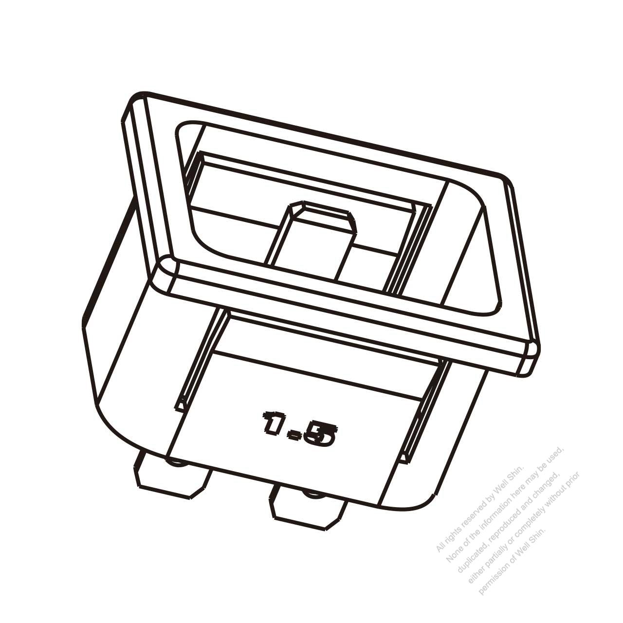Ac Socket Iec 1 C20 Appliance Inlet 16a 20a 250v