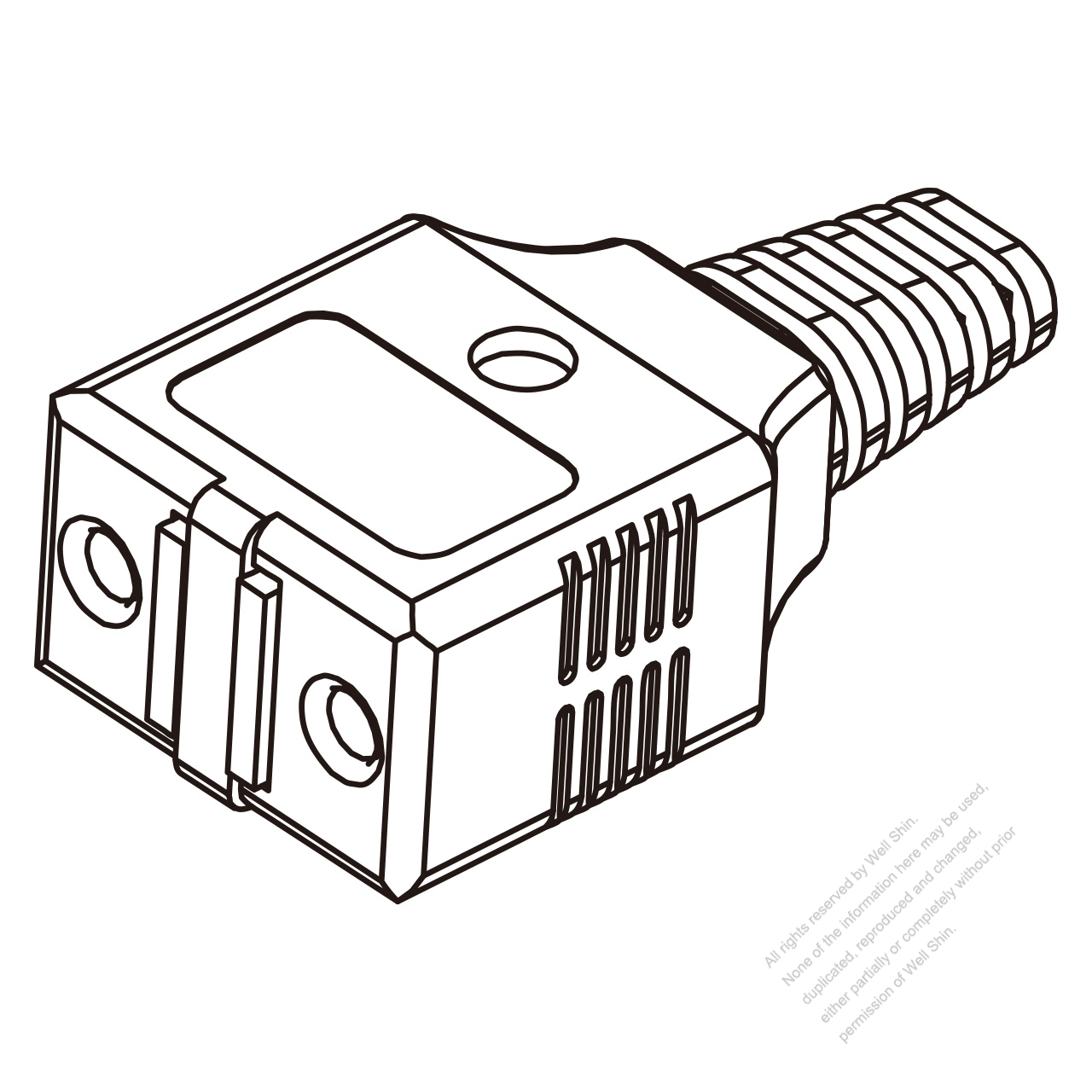 Taiwan Ac Connector 2 Pin Electric Cooker Connector 7a