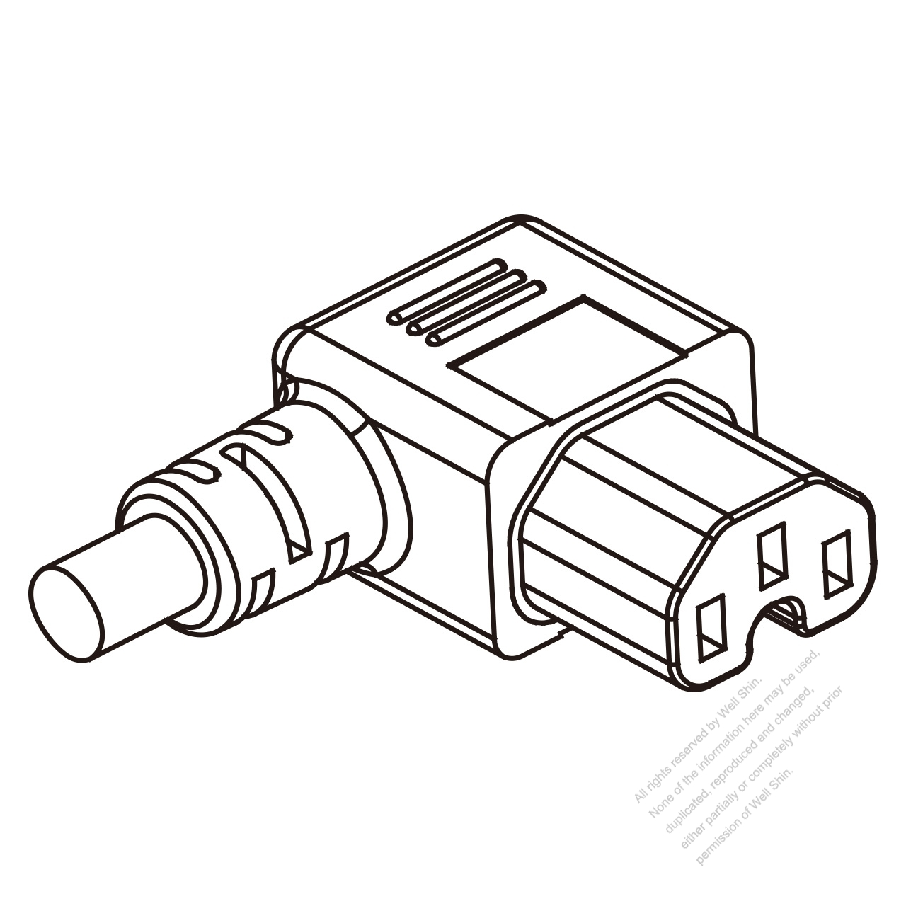 Europe Iec 320 C15 Connectors 3 Pin Angle Right 10a 250v
