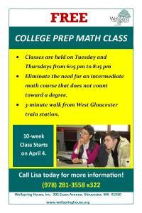 FREE College Prep Math Class at Wellspring: