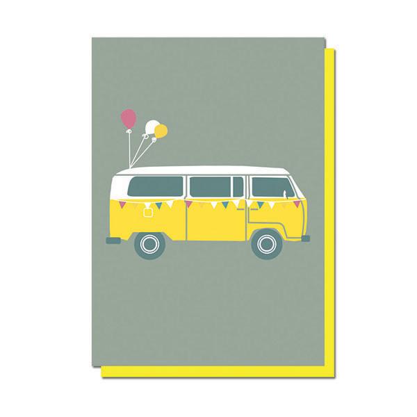Camper Van Celebration Greeting Card Well Street Studio Langham