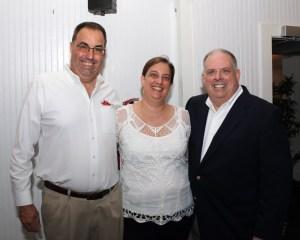 Larry Metz, Angela Heckman and Maryland Governor Larry Hogan