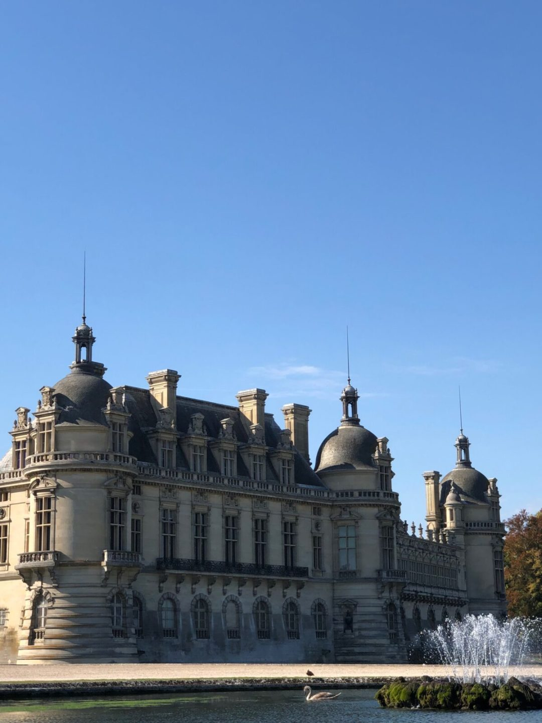 chateau de chantilly vue