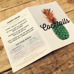 Menu Laminated – Bar – Cafe – Restaurant
