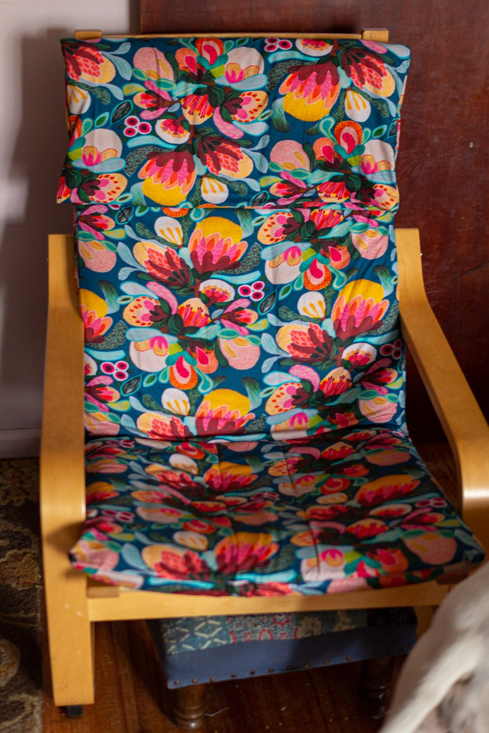 Poang chair covered