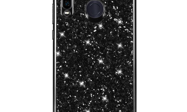 Black Powder Glitter Cover for Huawei P30 Lite