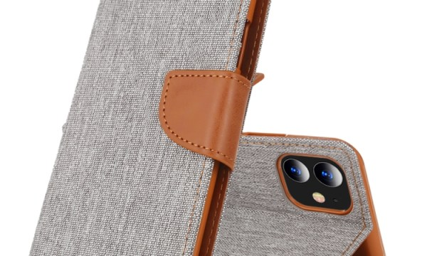 "Canvas Diary Cover iPhone 12 Mini 5.4"" Grey"