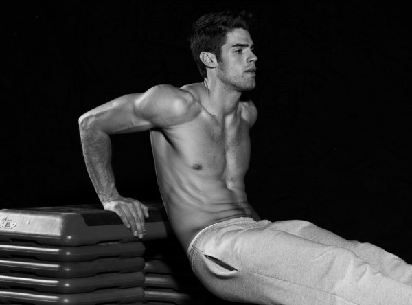 Male model Chad White for DETAILS magazine The Body