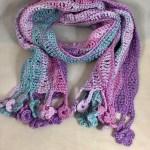 Crochet cotton scarf