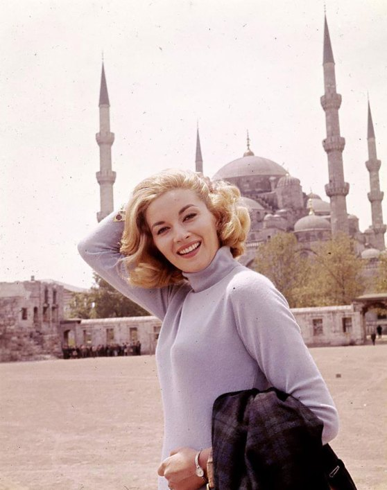 Daniela Bianchi posing in front of the Hagia Sophia