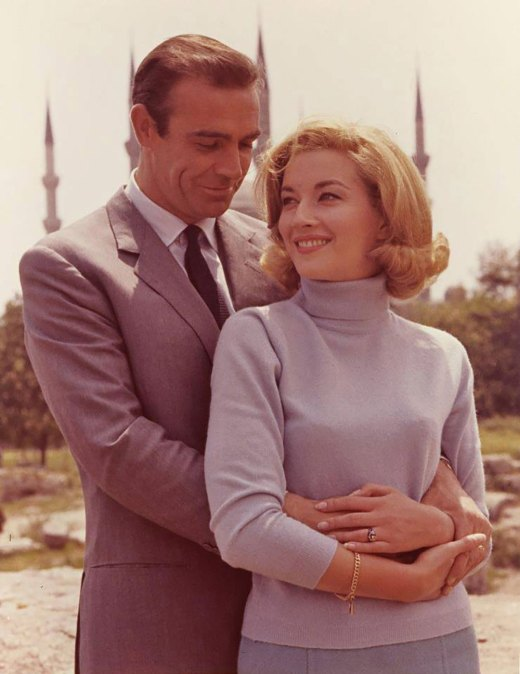 Sean Connery and Daniela Bianchi are giving a lovely pose in front of the Hagia Sophia