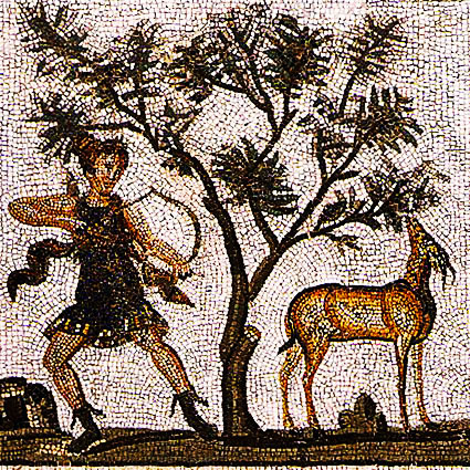 Byzantine olive and hunting