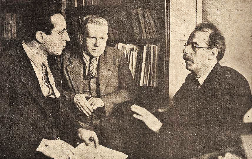 Freundlich, Gleissberg and Aslan Tufan (Reporter of the Turkish Magazine Yedigün)