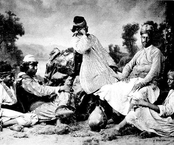 Group of Kurds, around 1880