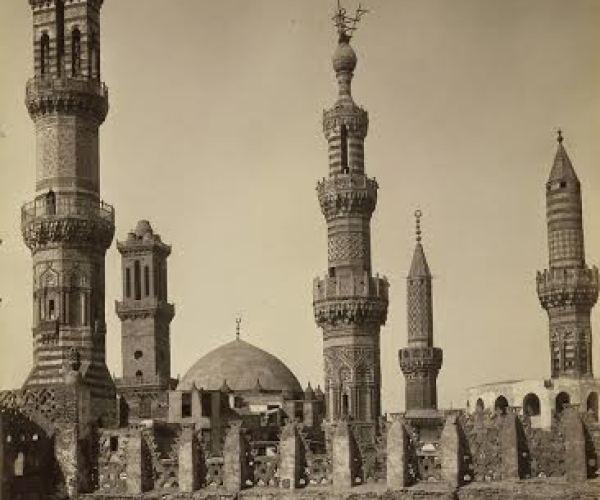 Group of minarets, Cairo, around 1870