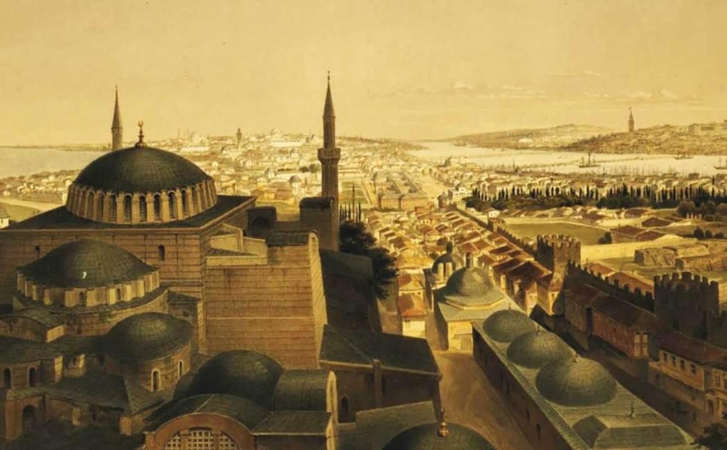 Hagia Sophia Gravure by Gaspare Trajano Fossati