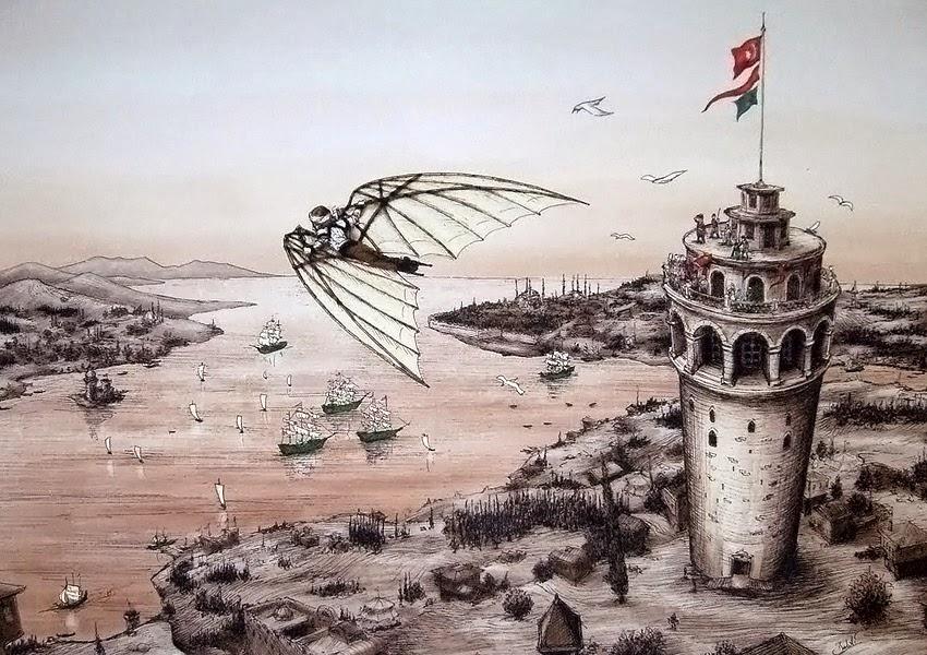 Hezarfen Ahmet Celebi Galata Tower