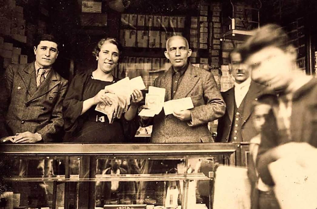 Nimet Abla lottery ticket shop in Istanbul in 1930s