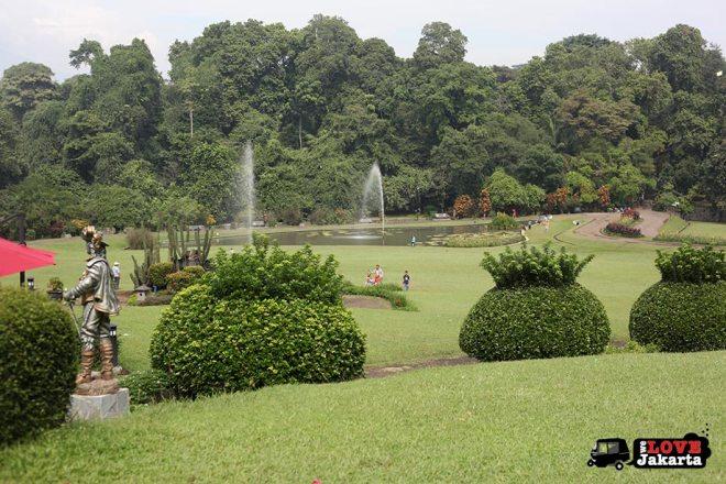 Gardens at Bogor Botanical Gardens Indonesia
