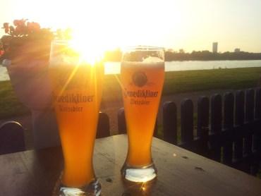 Biergarten Bonn tipp für Radtour Bundeshäuschen Oberkassel