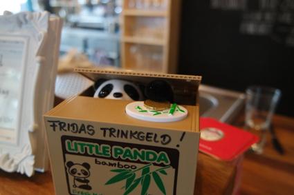 Und dieses kleine Highlight konnte ich euch nicht vorenthalten: Der Trinkgeld-Panda!