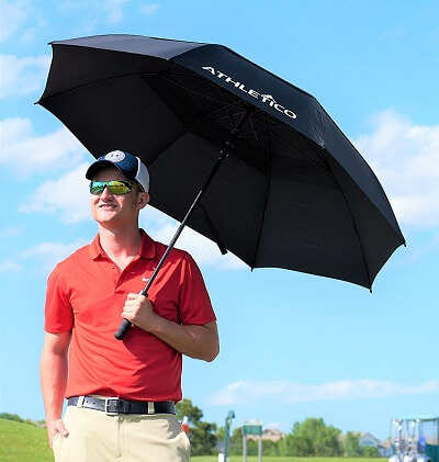 Best-Safest-Windproof-Umbrella-Athletico-for-golfers
