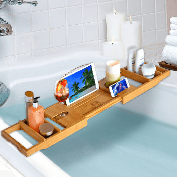 bamboo bath tray for tub