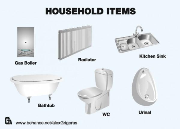 Vector Household Plumbing Fixtures WeLoveSoLo
