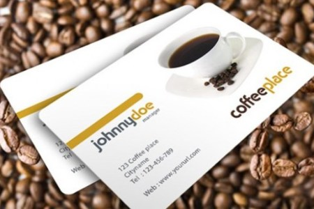 Awesome Coffee Business Card Template   WeLoveSoLo web unique ui elements ui template stylish quality psd presentation  original new modern interface identity card  Modern coffee place business
