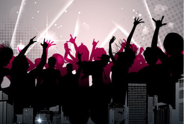 City Party Silhouette Background WeLoveSoLo