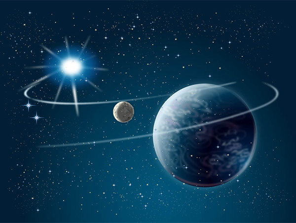 Orbiting Planet Space Abstract Background - WeLoveSoLo