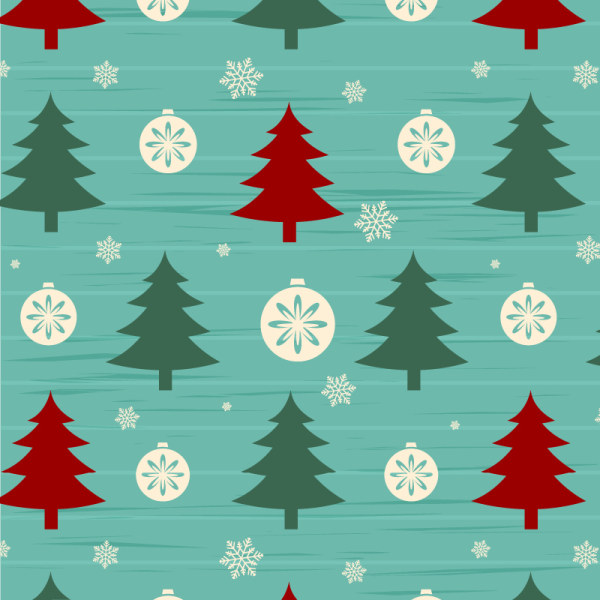 Christmas Tree With Snow Seamless Pattern Vector WeLoveSoLo