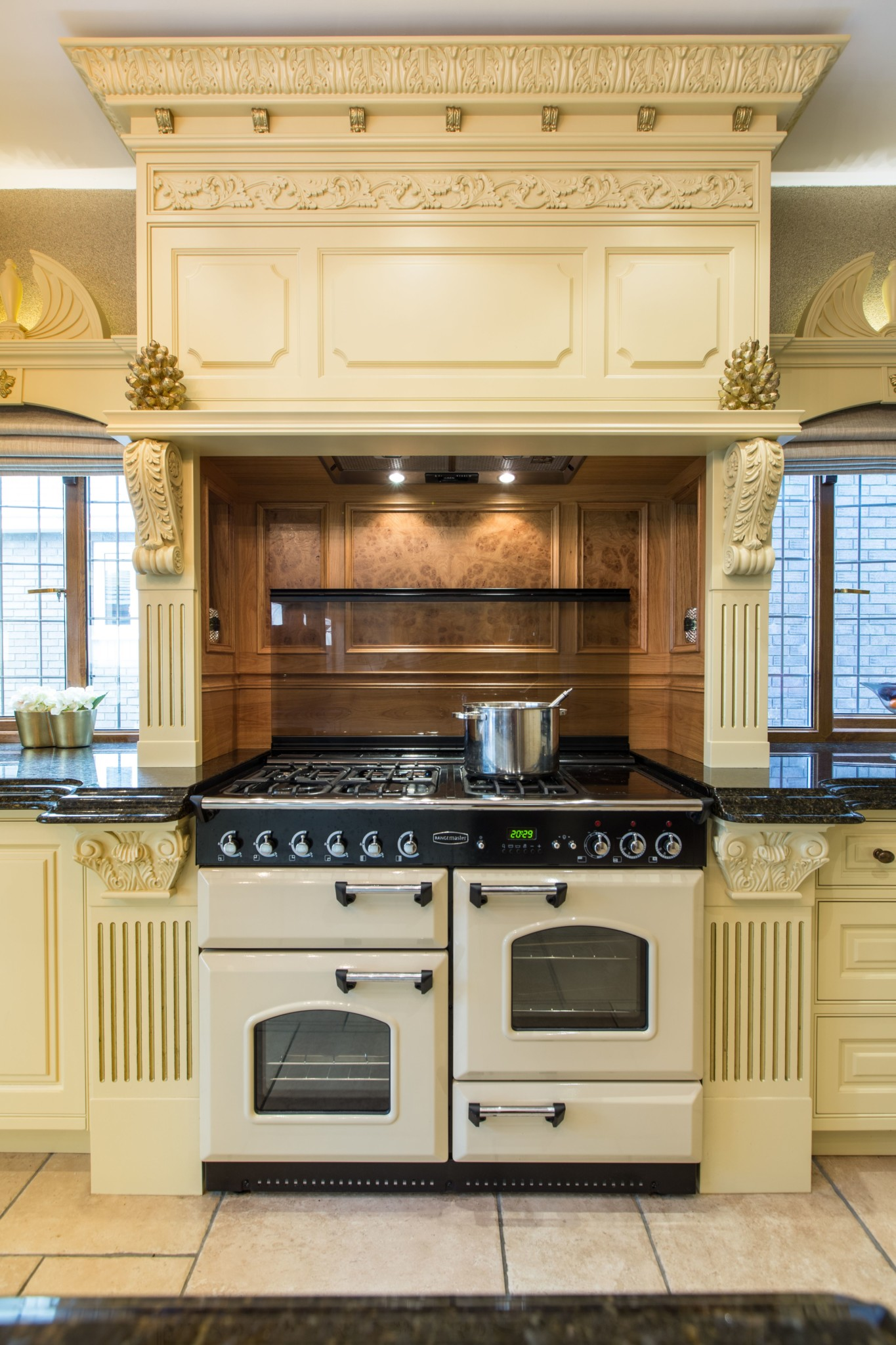 Painted Manor House Classical Kitchen Reading