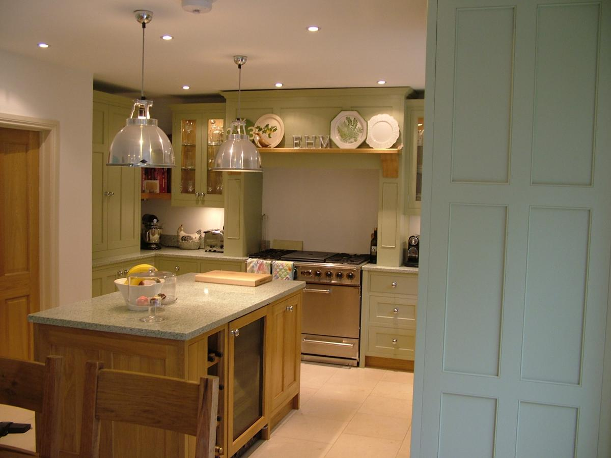Painted And Oak Kitchen Kent