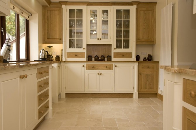 Painted Oak Kitchen Llanrhystud Mark Stones Welsh