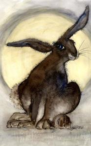 Julia HaRrris illustration By the light of the silvery moon