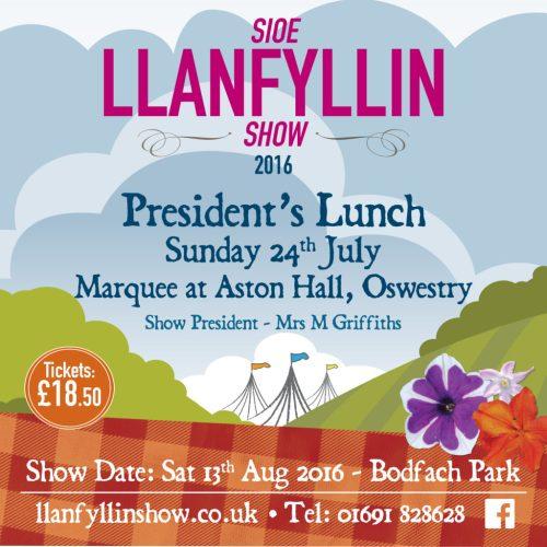 llanfyllin show presidents lunch
