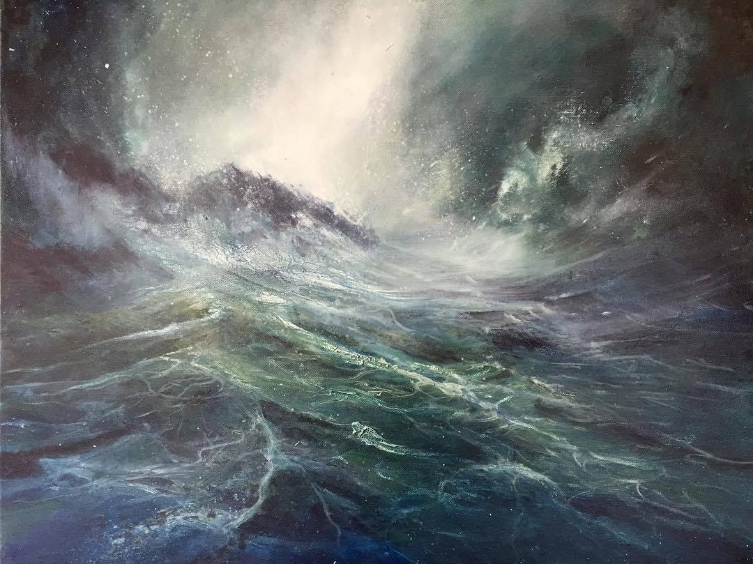 Local Pembrokeshire artist Sarah Jane Brown to exhibit in major national marine art exhibition in London