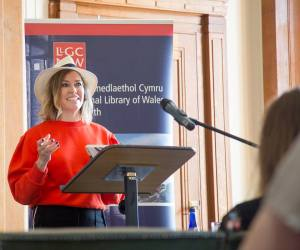 national library myths exhib opened by cerys matthews