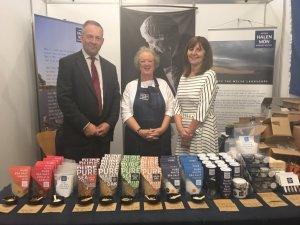 Food and Drink Wales for the industry board with Andy Richardson (chair) Alison Lea Wilson (board member) & Lesley Griffiths Cabinet Secretary for Energy, Planning and Rural Affairs.