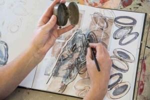 school of art drawing book exhib coleg sirgar