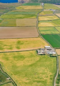 archaeology arial view of Pembrokeshire